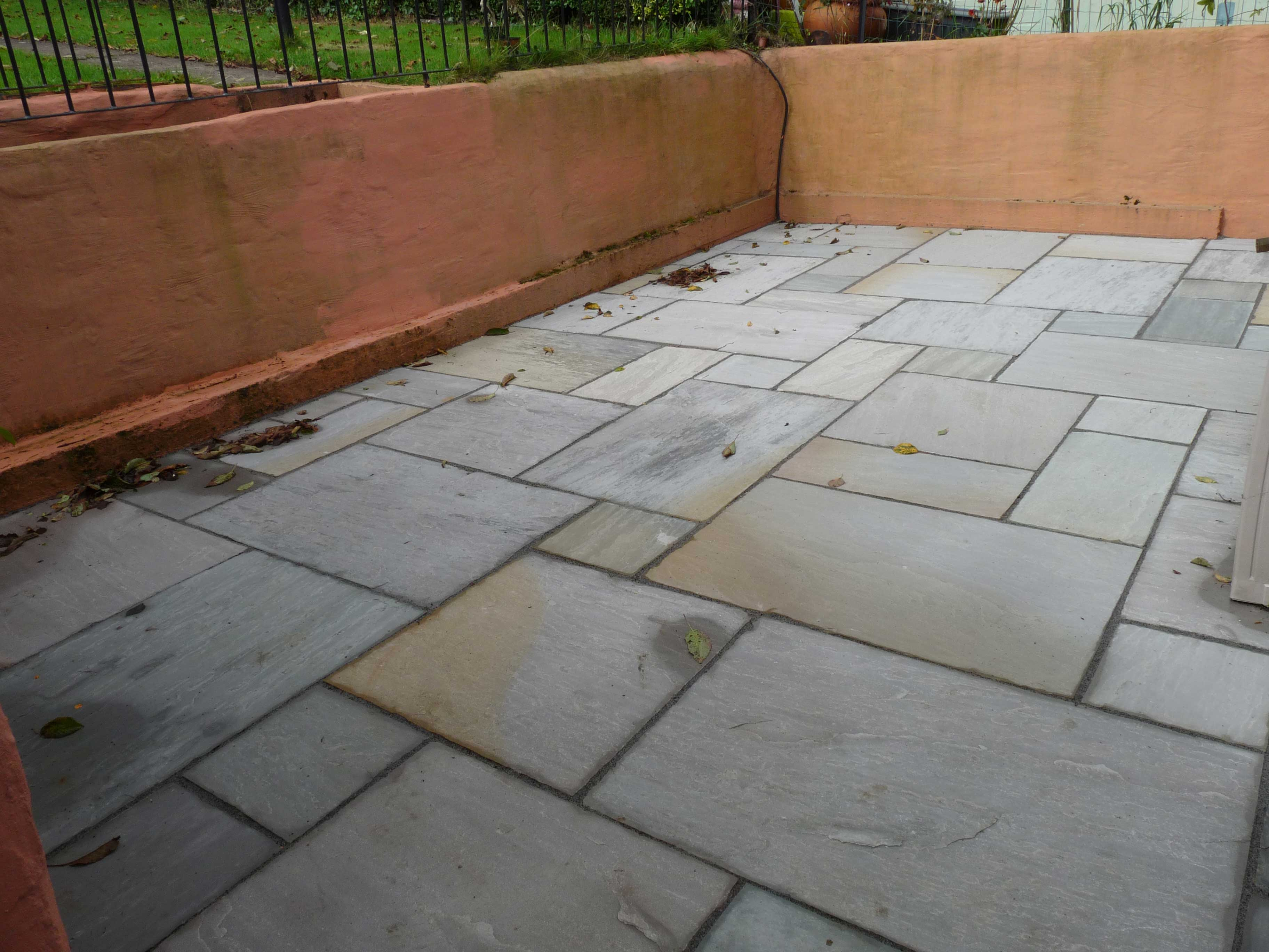 Indian stone flags through patio